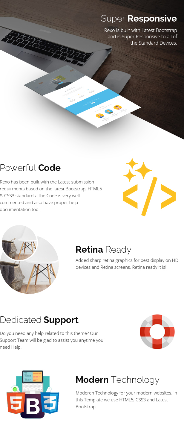Rexo - One Page Parallax - 3